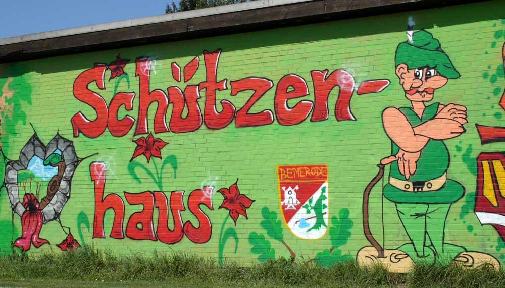 Grafittikunst am Schützenhaus